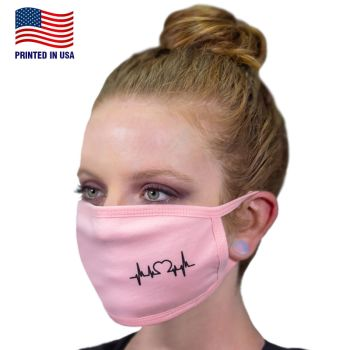 Custom 100% Cotton 3-Layer Fabric Face Masks