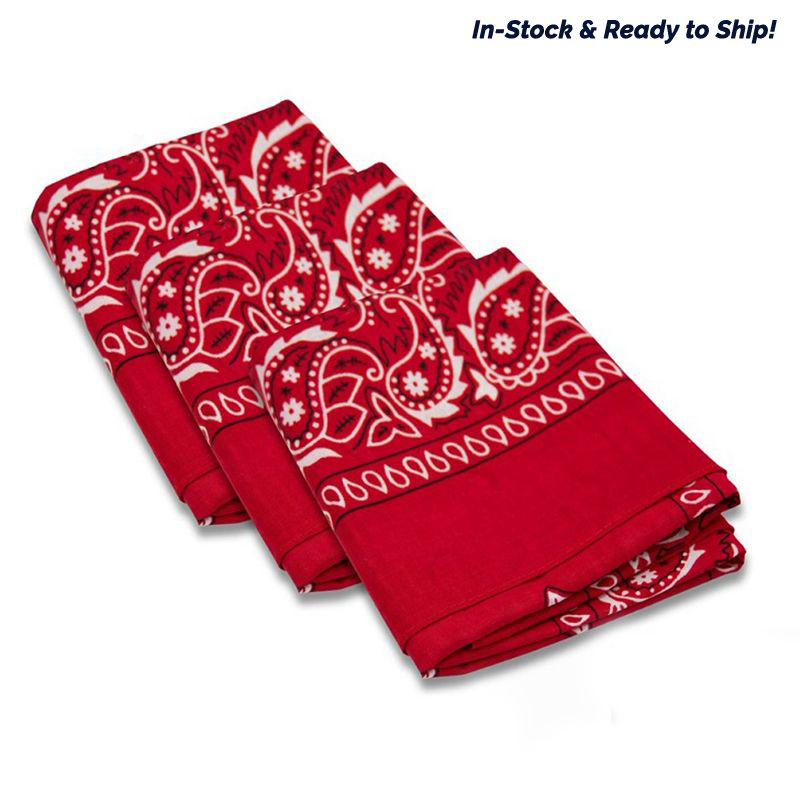 Paisley Color Bandanas & Face Coverings