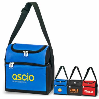 6-Can Dual Compartment Insulated Cooler Bags