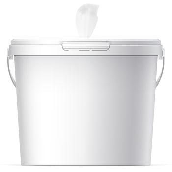 Antibacterial Wet Wipes Bucket - 400 Count