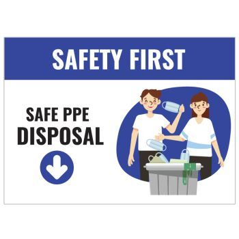 Safe PPE Disposal Stickers