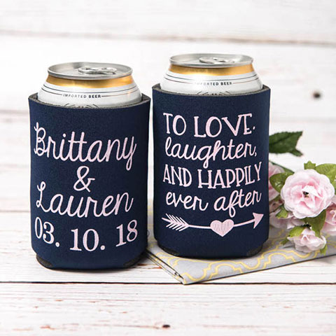 Custom Wedding Koozies - Wedding Favors - Custom Wedding Party Favor